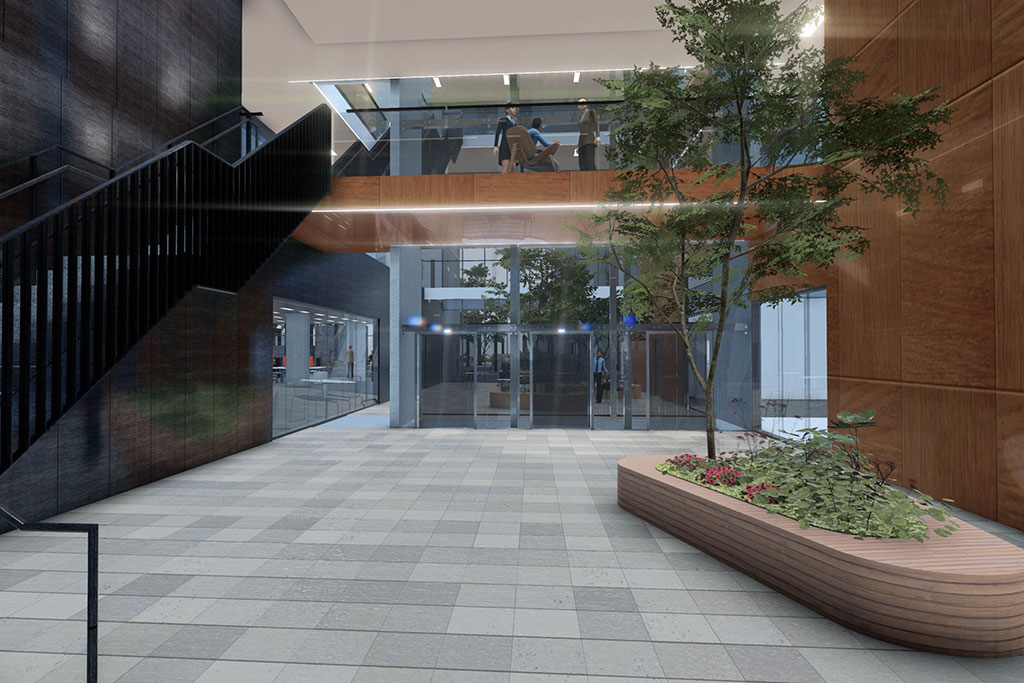 Oran Park Commercial building view entry courtyard