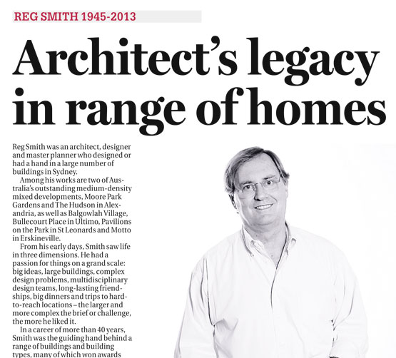 Reg Smith 1945-2013. Architect's legacy in range of homes
