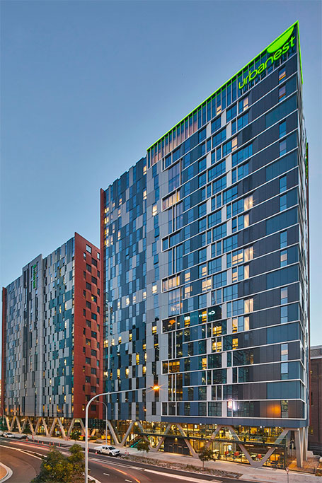 Urbanest external glass facade