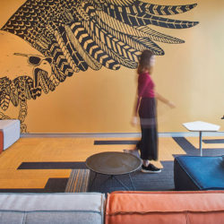 Urbanest interior common area with Mulga wall graphic