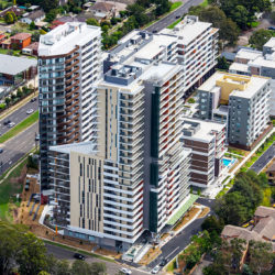 Macquarie Park Village aerial view