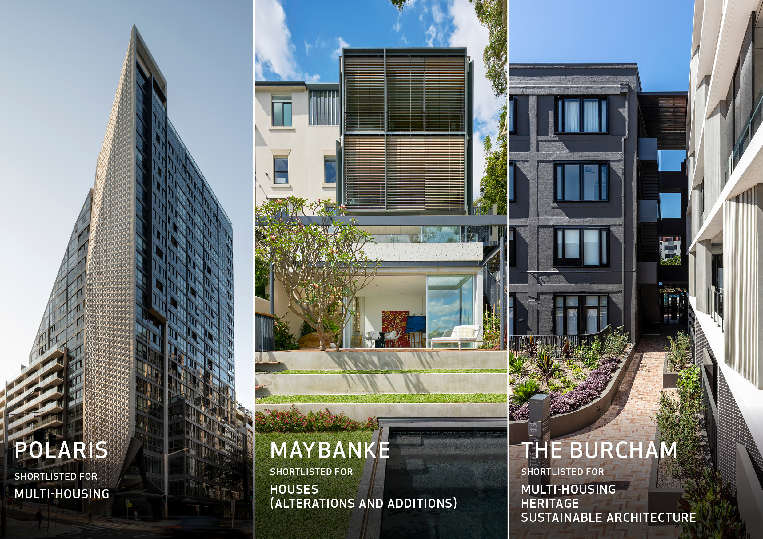 AJ+C shortlisted 5 times in the 2019 AIA NSW State Awards