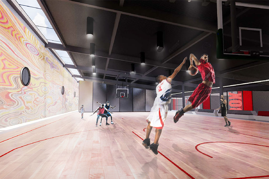 PCYC Walgett Sports Centre internal view of the new sports hall