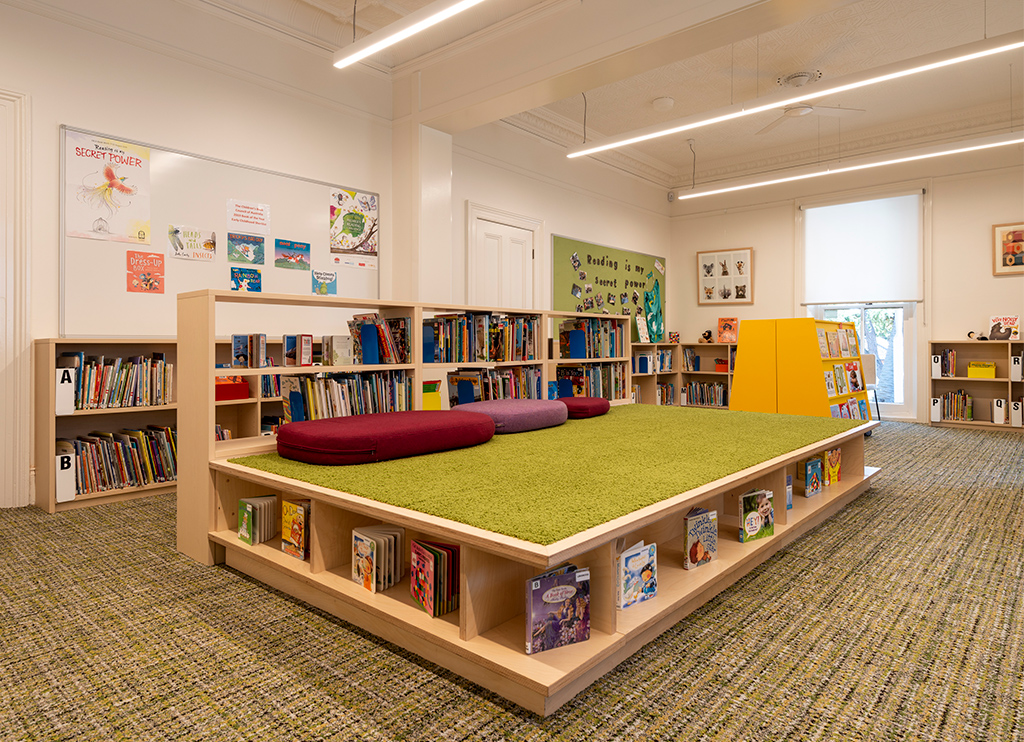 Meriden Lingwood library reading area